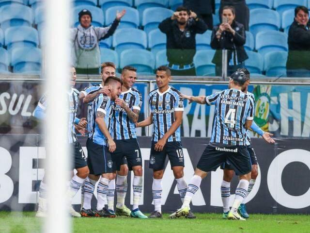 O resultado elevou o Grêmio aos 14 pontos e em primeiro no Grupo 1 da disputa.  (Foto: Grêmio FC)