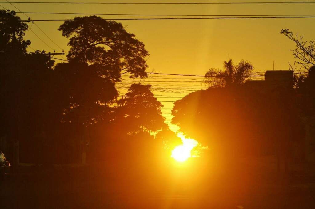Temperatura pode chegar aos 35ºC em Campo Grande nesta quarta-feira (Foto: André Bittar)