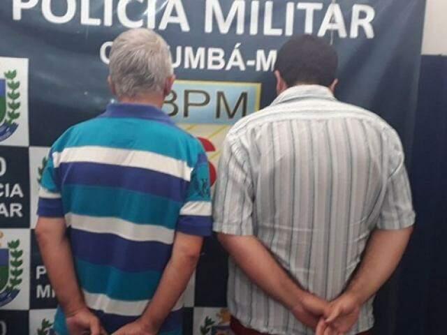 Dupla que manteve o motorista refém. (Foto: Diário Corumbaense)