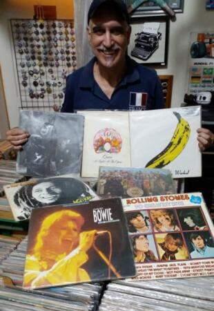 Carlos Goes levará os discos da sua coleção (Foto: Arquivo pessoal)