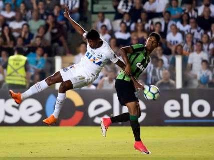 América-MG surpreende e derrota Santos na Vila; Grêmio e Chape empatam