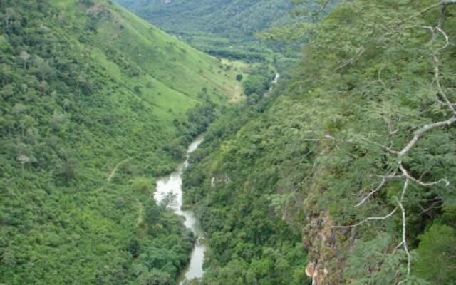 Vista aérea de parte do Parque Nacional da Serra da Bodoquena. (Reprodução/Arquivo)