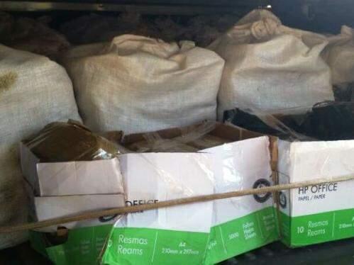 Foram encontrados cerca de 400kg de pasta base de cocaína (Foto: Site Porã News)