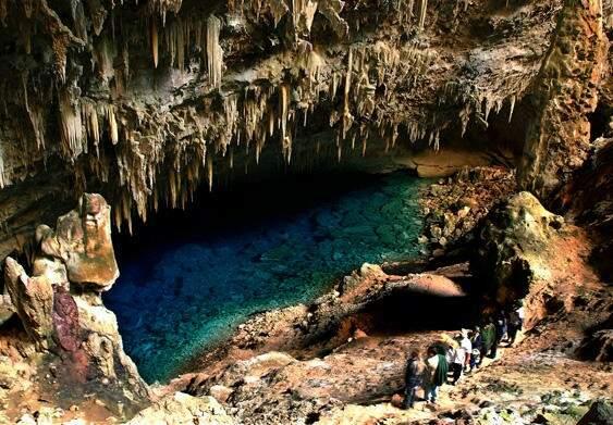 Gruta do Lago Azul, em Bonito, considerado o melhor destino de ecoturismo responsável. (Foto: divulgação)