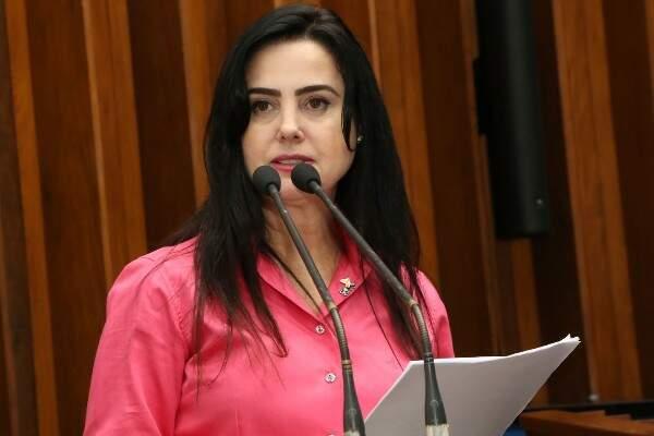 Deputada Mara Caseiro apresentou projeto na Assembleia (Foto: Assessoria/ALMS)