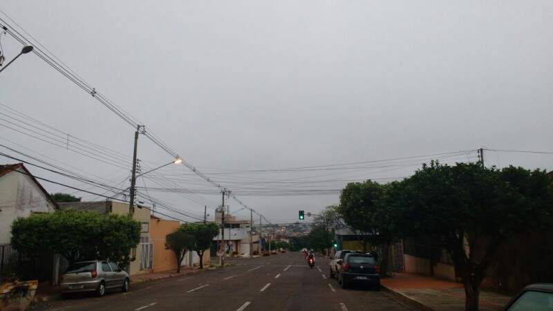 Dia nublado em Campo Grande, com previsão de chuvas e máxima de 20ºC. (Foto: Marcos Ermínio)