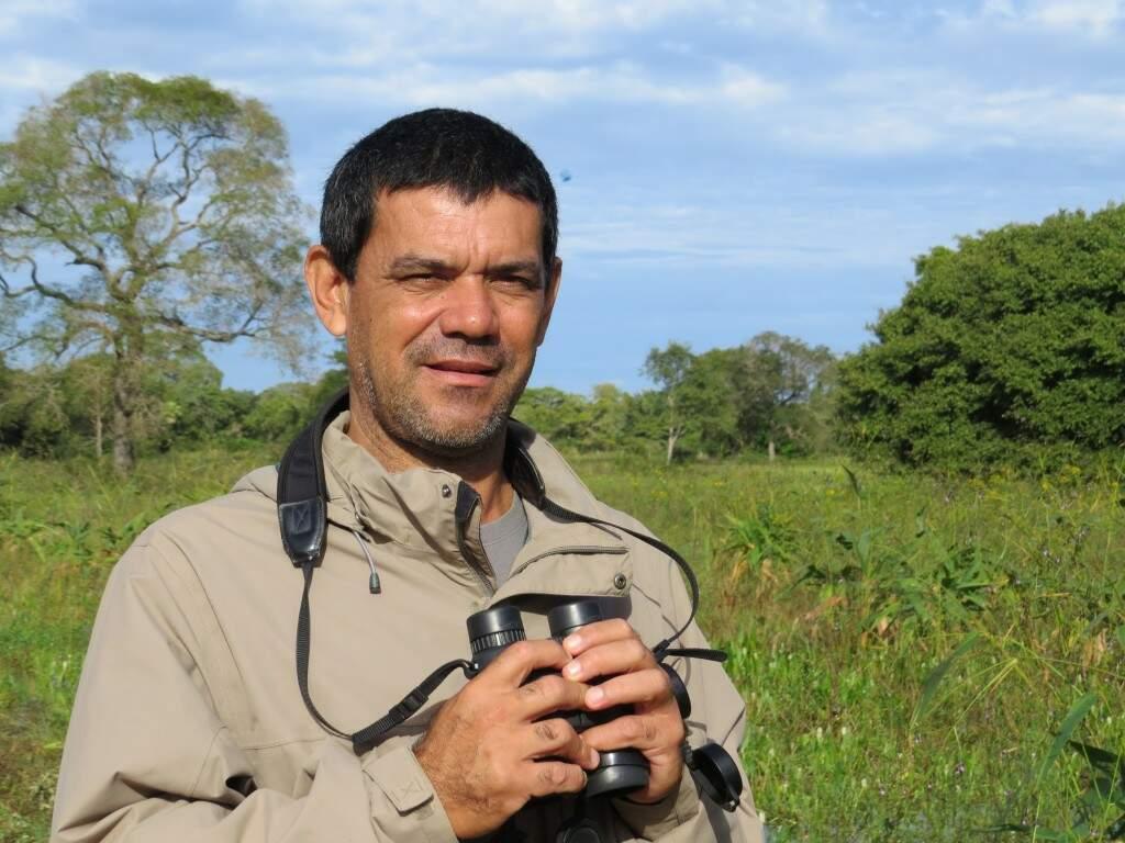 Os campos alagados e a fauna pantaneira são o ambiente de trabalho de Victor. (Foto: Aquivo Pessoal)