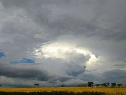 Noite foi de chuva, com ventos fortes e até 400 raios em município de MS
