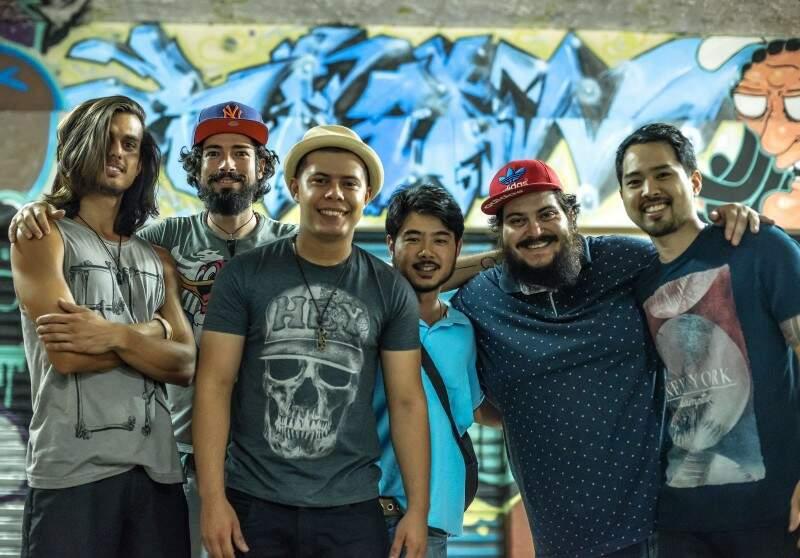 Mateus, Rafael, Thayson, Rodrigo, André e Lean formam o novo Curimba