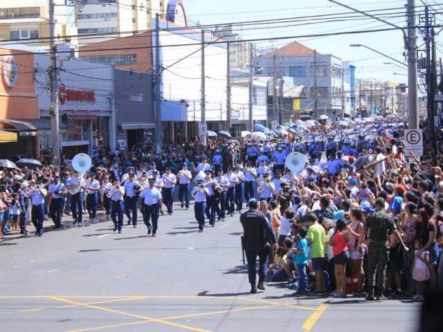 Desfile de 7 de Setembro do ano passado foi realizado na 14 de Julho (Foto: Marina Pacheco/Arquivo)