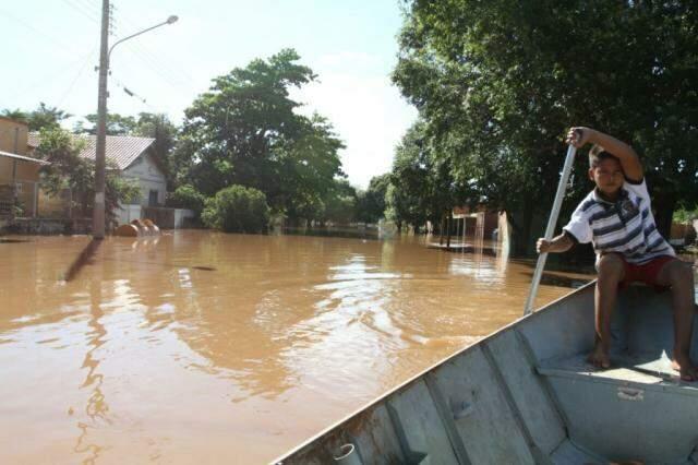 Volume da chuva de Aquidauana aumentou 68,78% com relação a média esperada. (Foto: Saul Schramm)