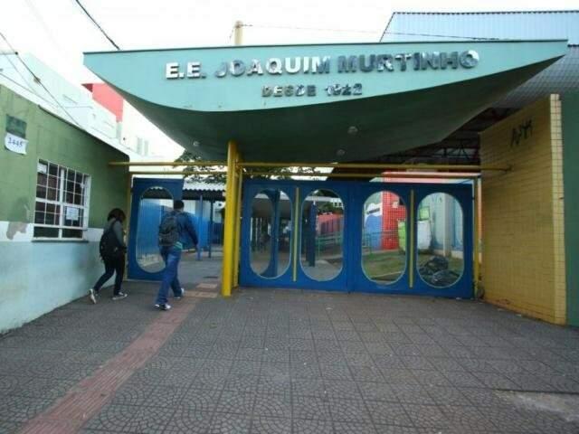 Escola Estadual Joaquim Murtinho, em Campo Grande (Arquivo/Campo Grande News)