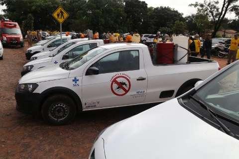 Força-tarefa da Caravana da Saúde mira 7 mil imóveis contra a dengue