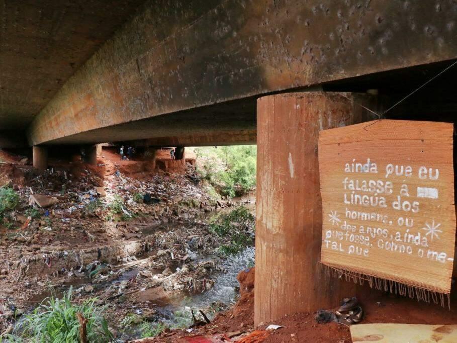 Do outro lado, margem onde já havia sido feita a remoção (Foto: Henrique Kawaminami)