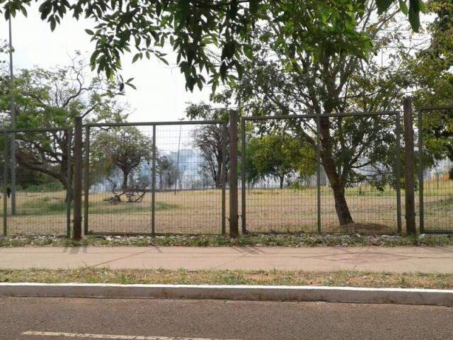A fumaça aparentemente visível dentro do parque. (Foto:Direto das Ruas)