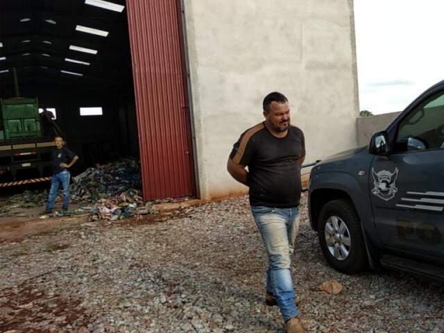 Elecir Belini Silva, de 39 anos, preso hoje já havia sido condenado a 3 anos de prisão por posse da munição. (Foto: Adilson Domingos)
