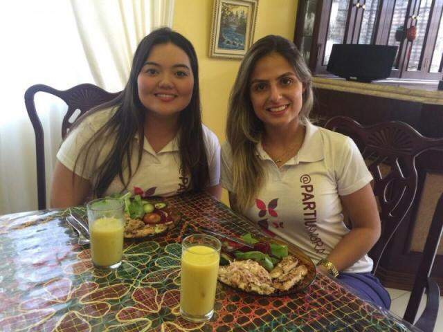 """No início deste ano, Alessandra e Ana Carolina criaram a """"#partiumagra"""" para incentivar e fazer com que ninguém desistisse."""