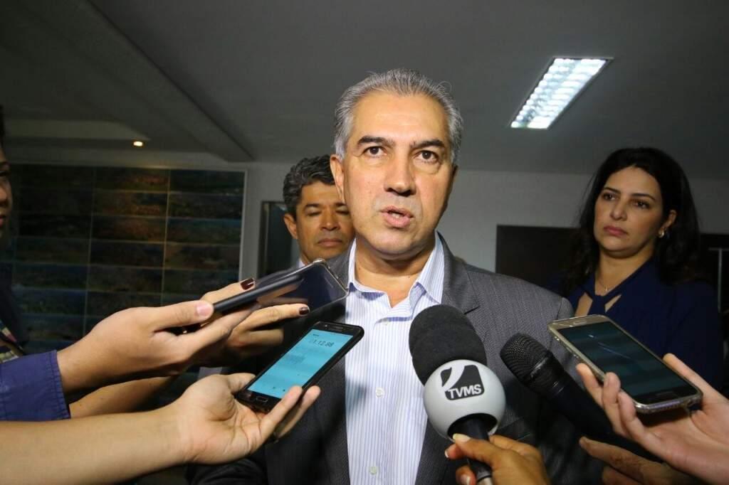 Governador Reinaldo Azambuja comentou sobre a reforma da previdência (Foto: André Bittar)