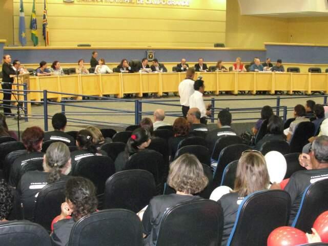 Audiência pública na Câmara sobre a proibição de máquinas de camisinhas nas escolas (Foto: Arquivo)
