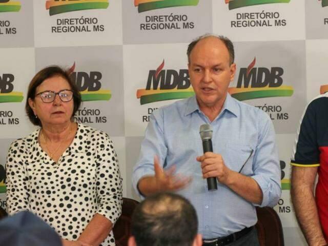 Mochi durante reunião com apoiadores, nesta sábado, mas também tem uma agenda amanhã (19). (Foto: Divulgação)
