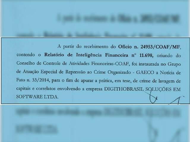 Gaeco iniciou investigação sobre o Detran a partir de comunicação do Coaf.