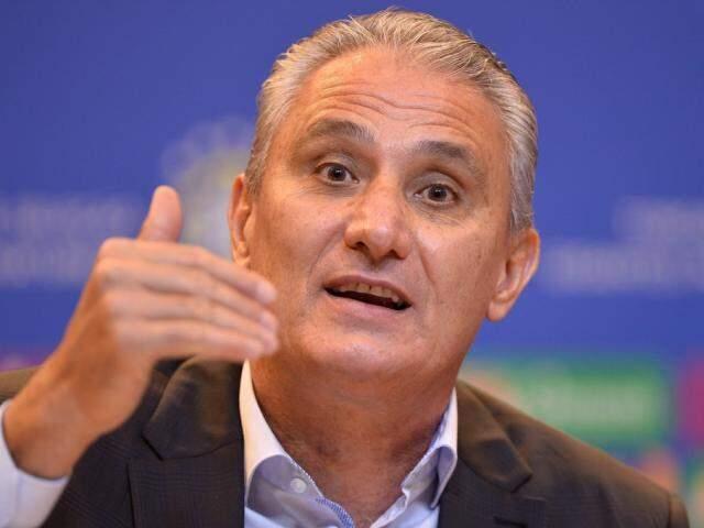 O técnico Tite anunciou hoje (10) a escalação do jogo. (Foto: Pedro Martins/MoWa Press/Reprodução-Gazeta Esportiva)