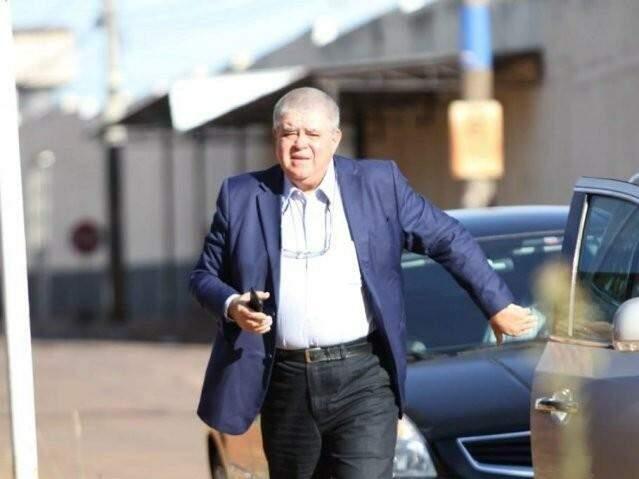 Carlos Marun ao chegar no Complexo Penal de Campo Grande numa das vezes que visitou André Puccinelli (MDB) (Foto: Saul Schramm/Arquivo)
