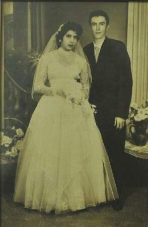 Casamento dos dois foi em fevereiro de 1958. (Foto: Arquivo Pessoal)