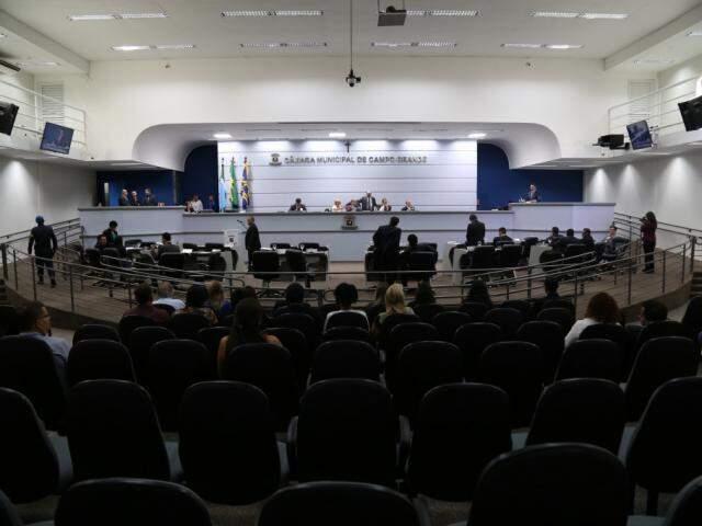 Plenário sessão da Câmara Municipal de Campo Grande. (Foto: Marcos Ermínio).