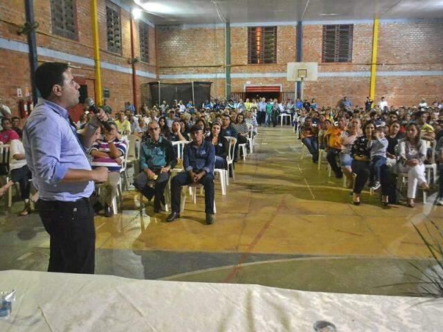 Prefeito interino, André Nezzi (PDT) durante campanha eleitoral em Caarapó (Foto: Reprodução - Facebook)