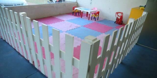 E tem até espeço para crianças brincarem enquanto os pais treinam. (Foto: Alcides Neto)