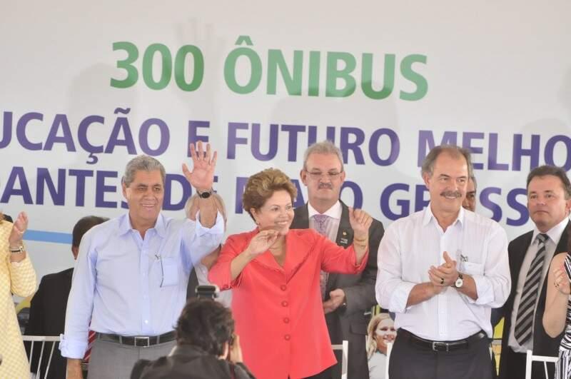 Dilma confessa que se encantou com belezas de Bonito (Foto: João Garrigó)