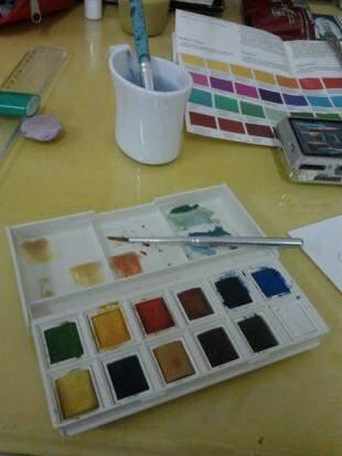 As cores do ateliê. (Foto: Arquivo Pessoal)