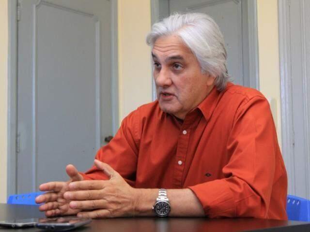Delcídio do Amaral, ex-senador, durante entrevista ao Campo Grande News, em agosto de 2018. (Foto: Marina Pacheco/Arquivo).