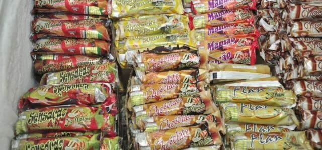 Picolés custam R$0,60 e R$0,80 (Foto: João Garrigó)