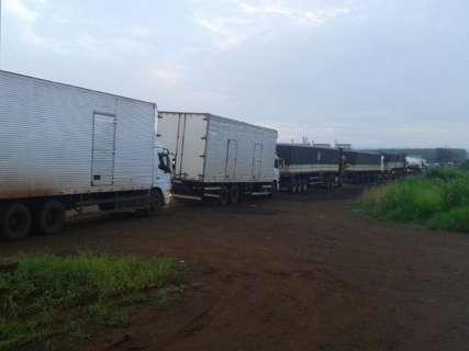 DOF intercepta comboio de oito carretas com cigarro do Paraguai