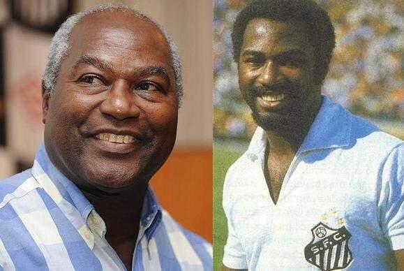 O ex-ponta-esquerda Edu, hoje e ontem, um craque que marcou época no Santos Futebol Clube (Foto: Divulgação)