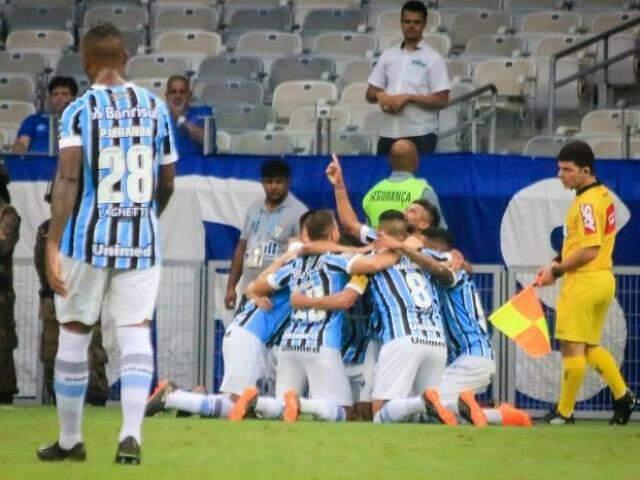 """Grêmio ignorou o """"fator casa"""" e, com gol do estreante André, começou o Brasileirão com vitória. (Foto: Grêmio FBPA/Divulgação)"""
