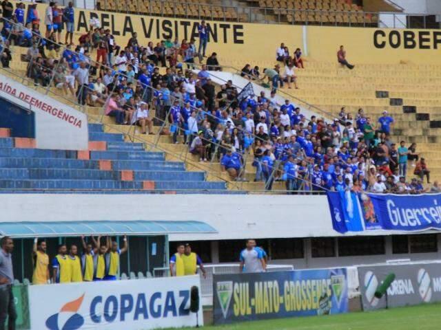 Torcida do Aquidauanense no jogo de semifinal do Estadual (Foto: Marina Pacheco)