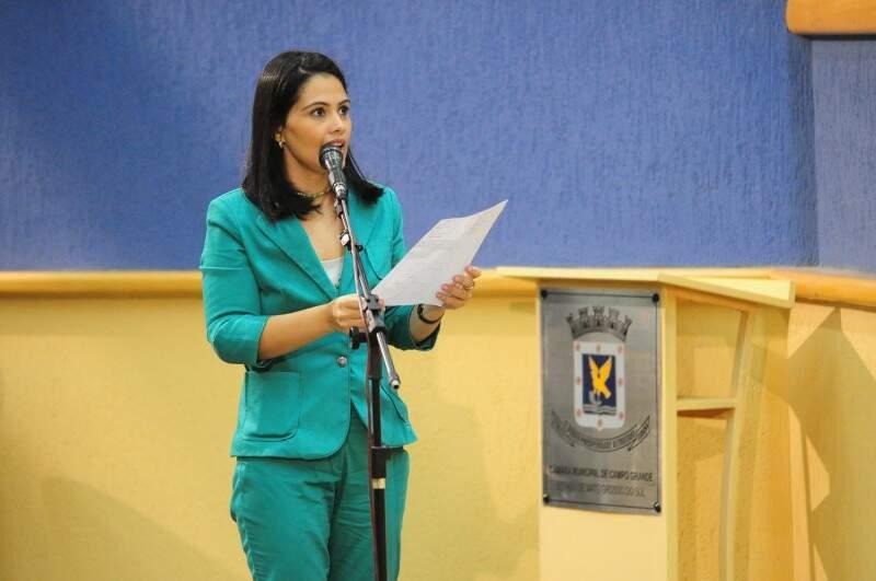 Bem mais magra, a vereadora Grazielle Machado chamou atenção.