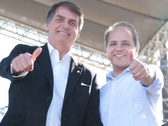 Bolsonaro e deputado Carlos Alberto David durante a campanha de 2018.