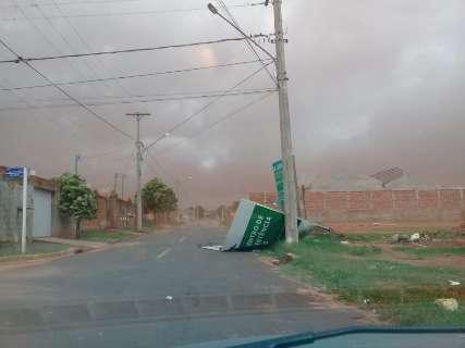 Temporal atingiu pelo menos oito cidades de MS, informa Defesa Civil