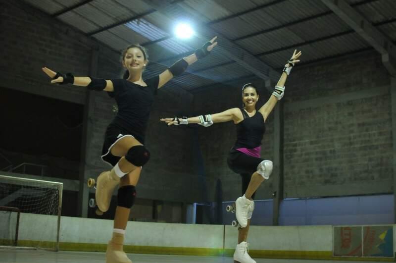Manuela e Mariana são mãe e filha e praticam um esporte juntas (Foto: Alcides Neto)