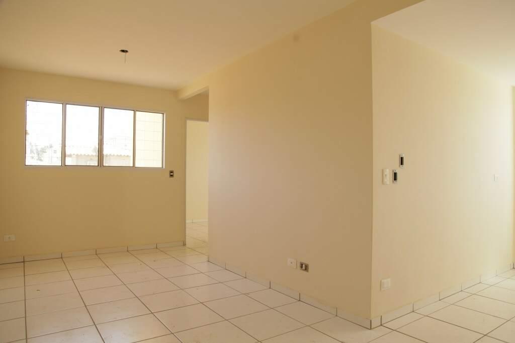 Imagem interna de apartamento do Residencial Itaperuna. (Foto: João Paulo Gonçalves)