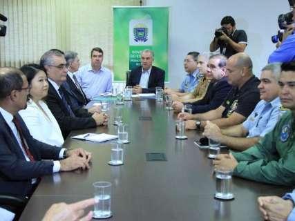Reinaldo reúne-se com Onyx Lorenzoni para discutir segurança na fronteira