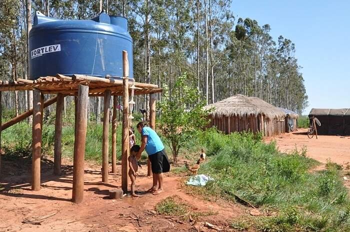 Ministério Público pede que União comprove o fornecimento de água aos indígenas de Iguatemi (Foto: MPF/Divulgação)