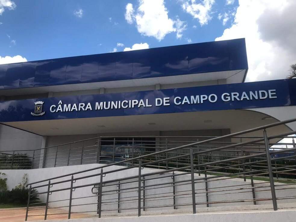 Fachada da Câmara Municipal de Campo Grande. (Foto: Arquivo).