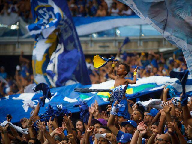Nação Azul, torcida do Cruzeiro; clube mineiro recebe o Grêmio na abertura do Brasileirão-2018. (Foto: Vinnicius Silva/Cruzeiro F.C.)