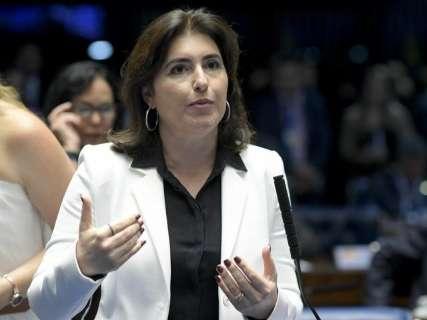 Simone Tebet inscreve candidatura avulsa à presidência do Senado