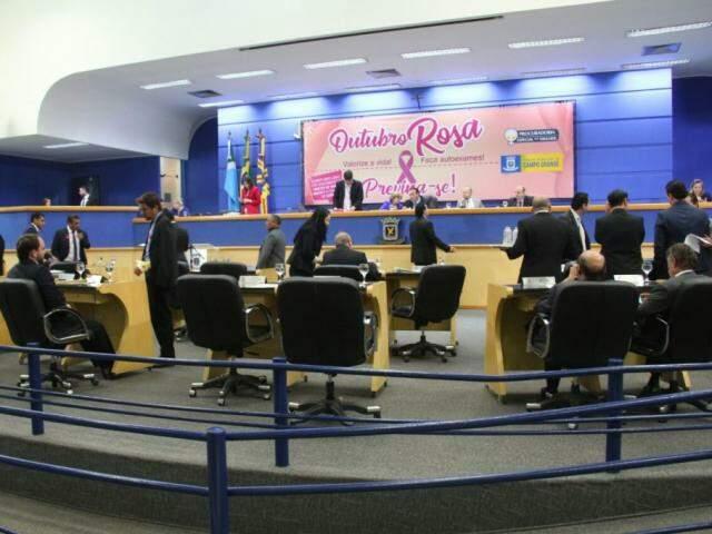 Câmara Municipal de Campo Grande. (Foto: Marcos Ermínio/Arquivo).